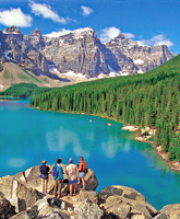 Canadian Rockies singles camping photo
